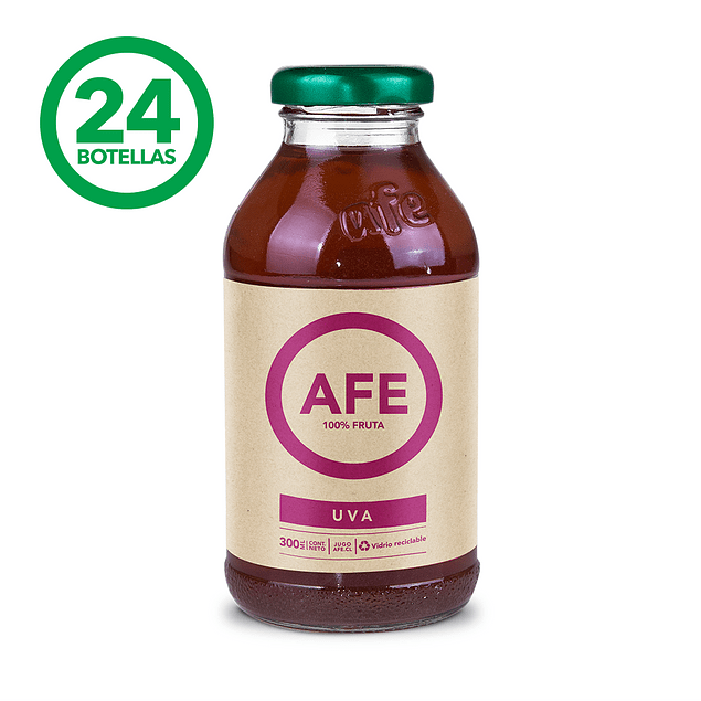 JUGO DE UVA: 24 BOTELLAS AFE 300 ML