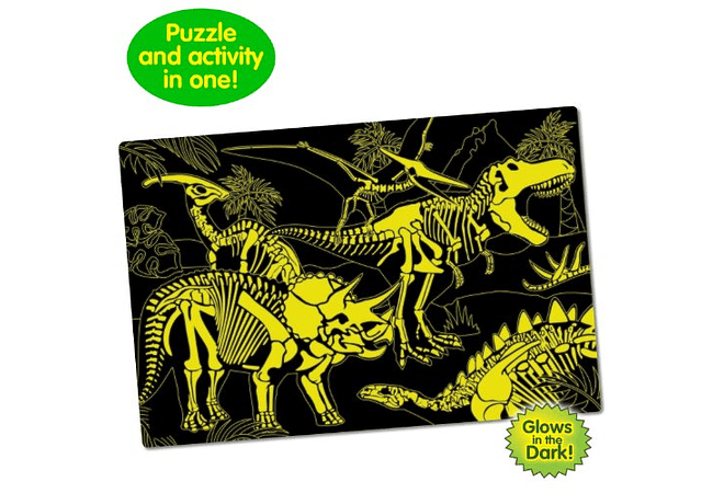 Puzzle Doubles - Glow in the dark! Dino