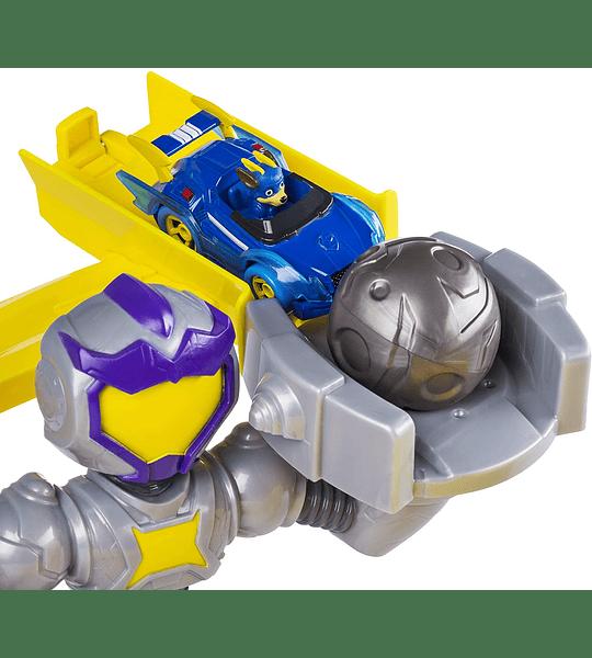 True Metal Mighty Meteor con vehículo exclusivo Chase escala 1:55