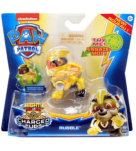 Rubble Mighty Pups charged up