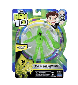 Heatblast out of the omnitrix Ben 10