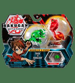 Trox VS Fangzor Bakugan Brawler 2-Pack