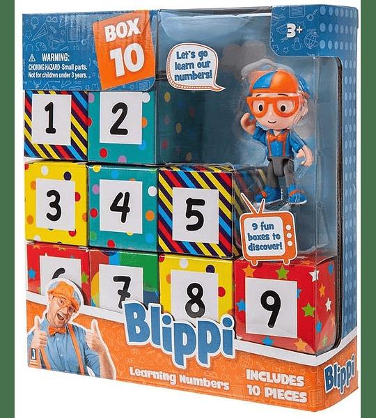 Blippi Caja sorpresa Números de aprendizaje