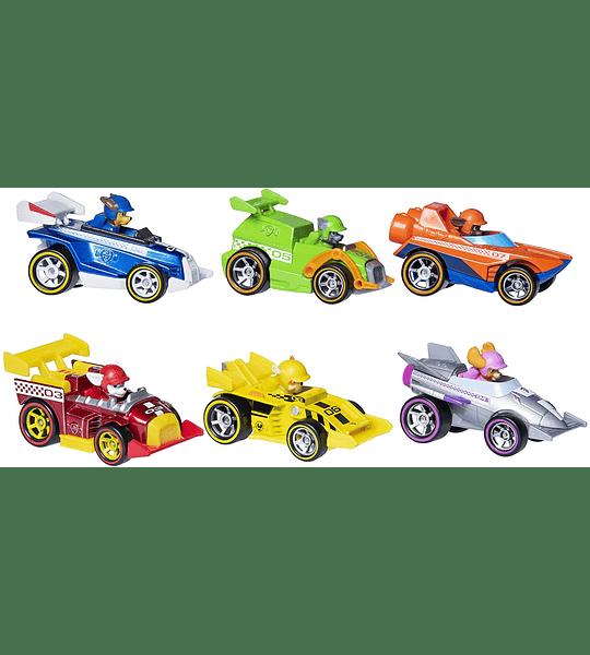 Paw Patrol True Metal Ready Race Rescue pac de 6 con 2 exclusivos modelos