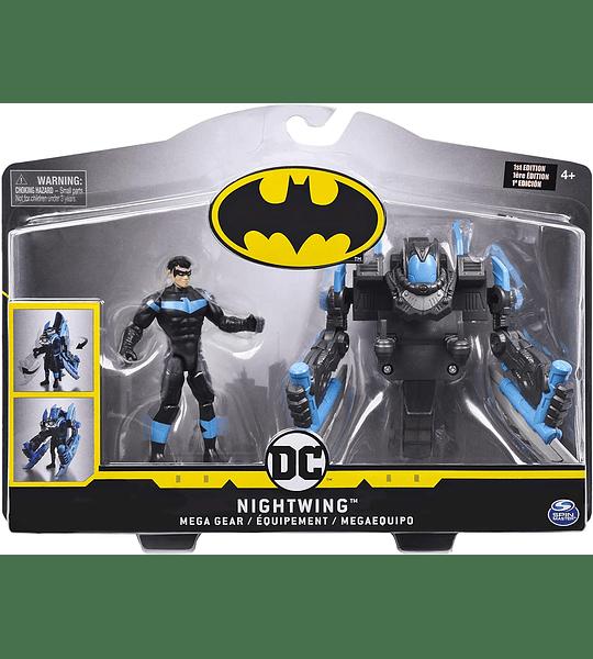 Batman, figura de acción de lujo Mega Gear con armadura transformadora