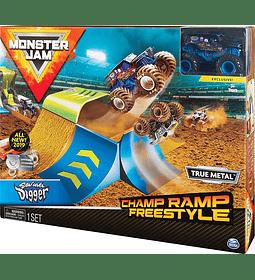 Exclusiva Camión monstruo de excavadora Monster Jam