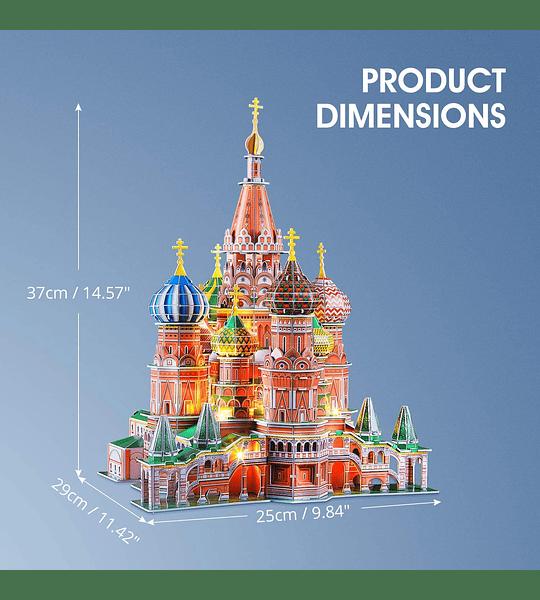 Catedral de San Basilio Puzzle 3D Led Cubic Fun