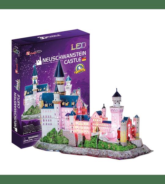 Castillo de Neuschwanstein Puzzle 3D LED CubicFun