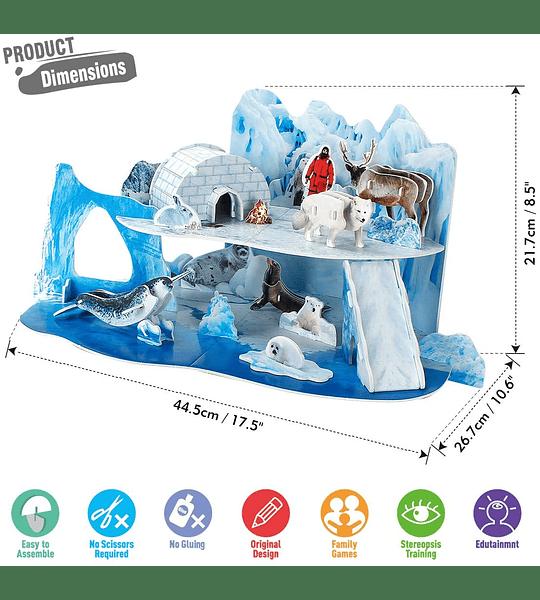 El Ártico Puzzle 3D CubicFun