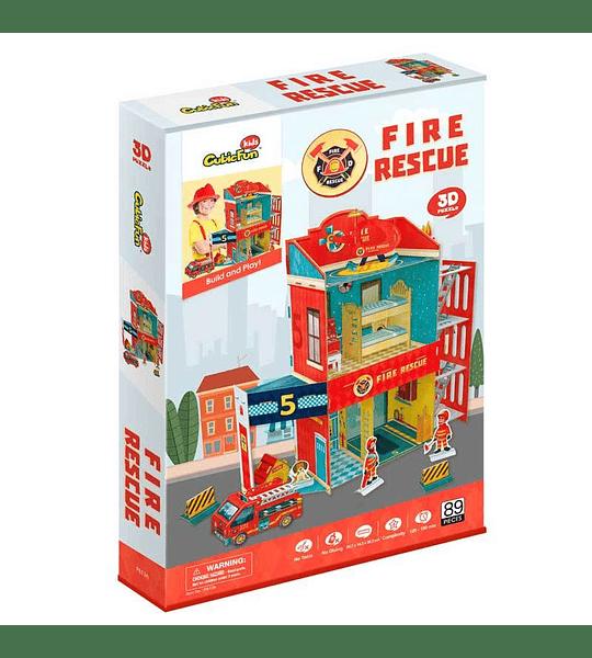 Fire Rescue Puzzle 3D CubicFun
