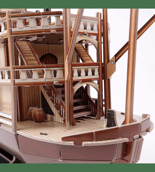 Mississipi Barco de Vapor Puzzle 3D CubicFun