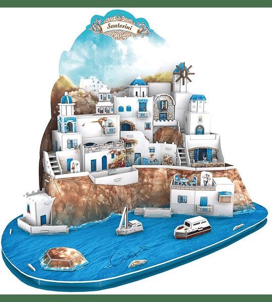 Santorini Island Puzzle 3D Cubicfun