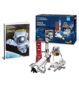 Space Mission Puzzle 3D CubicFun Kids