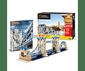 London Twin Bridge Puzzle 3D National Geographic CubicFun