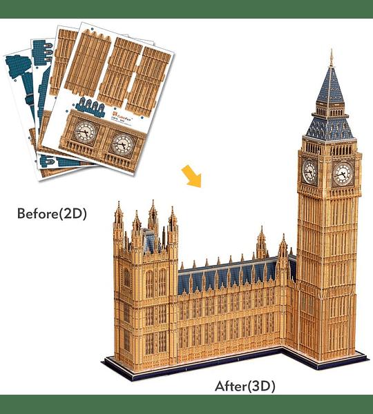 Big Ben Londres Puzzle 3D National Geographic CubicFun