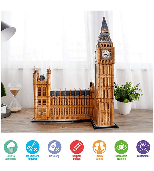 Big Ben Londres Puzzle 3D National Geographic CubicFun