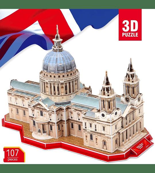 Catedral de San Pablo Londres Puzzle 3D National Geographic CubicFun