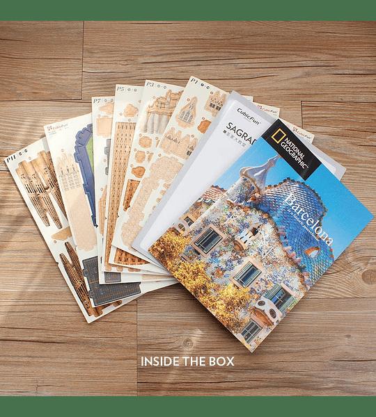 Sagrada Familia Barcelona Puzzle 3D National Geographic CubicFun