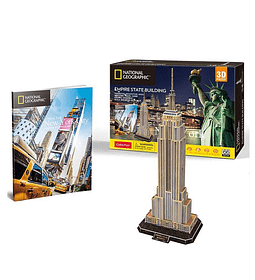 Empire State Building New York Puzzle 3D National Geographic CubicFun