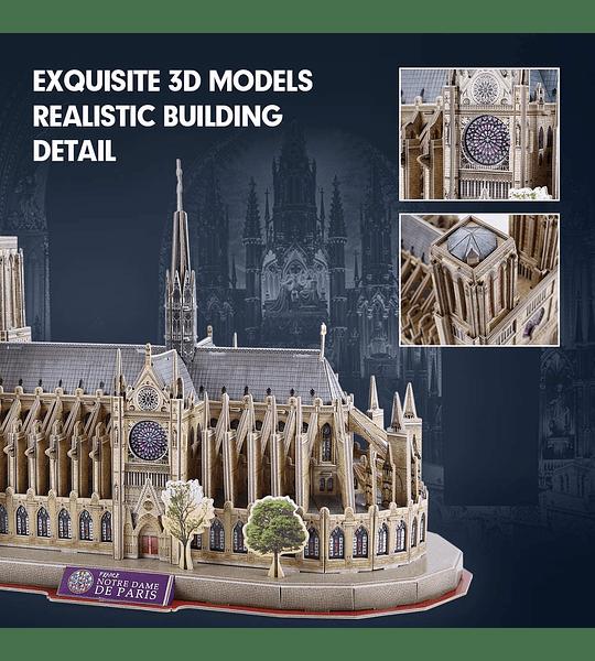 Notre Dame de París Puzzle 3D National Geographic CubicFun