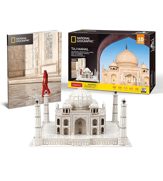 Taj Mahal India Puzzle 3D National Geographic CubicFun