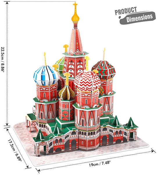 St. Basil's Cathedral Russia Puzzle 3D CubicFun