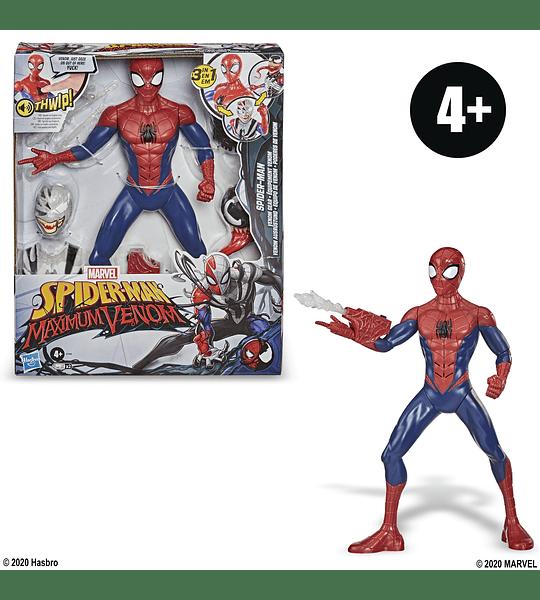 Spider-Man Maximum Venom, Spider-Man Venom Gear, incluye trajes de Venom y Symbiote, sonidos y frases