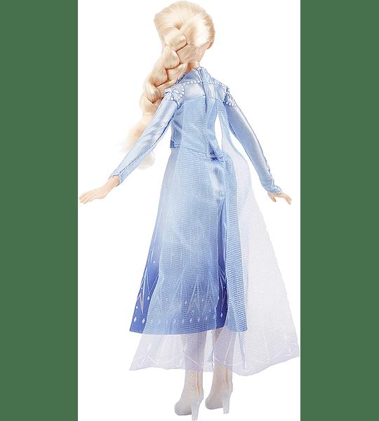 Elsa Cantante con música con Vestido Azul Inspirado en Disney Frozen 2