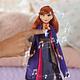 Anna Cantante muñeca electrónica con Vestido Morado, Inspirado en la película Frozen 2