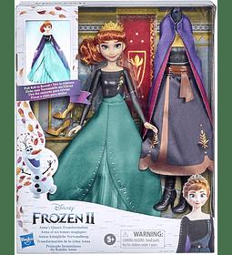 Anna Transformation Queen 2 Trajes y 2 Estilos de Pelo Frozen 2