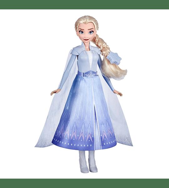 Elsa Transformation Queen 2 Trajes y 2 Estilos de Pelo Frozen 2