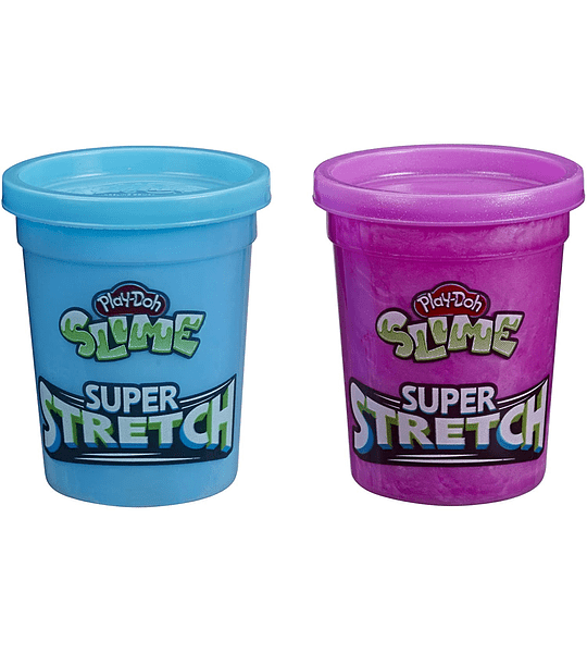 Slime Super Stretch - Pack de 2 color morado y azul  Play-Doh