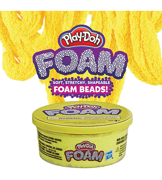 Pote de espuma para modelar Play-Doh Color Amarillo