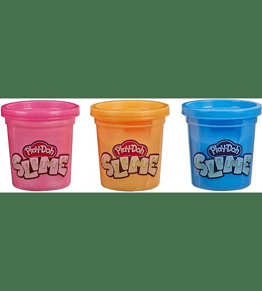 Brand Slime 3 Pack de Slime azul, naranja metálico, y rosa metálico Play-Doh