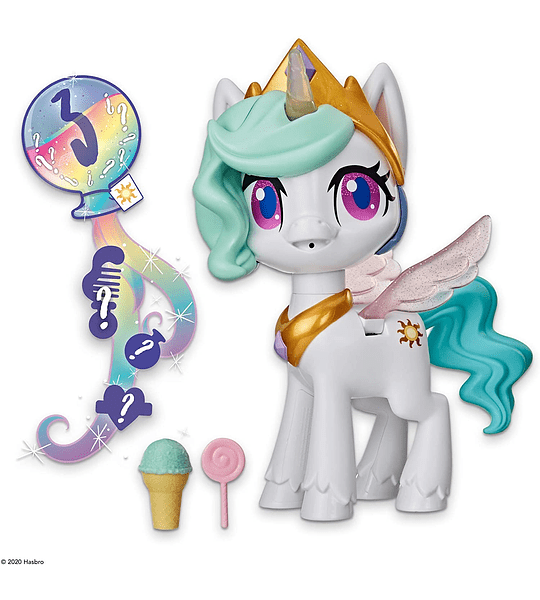 Unicornio Princesa Celestia besitos Mágicos