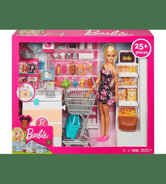 Barbie Muñeca vamos al supermercado