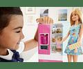 Barbie Refrigerador, accesorios para cocina con muñeca rubia