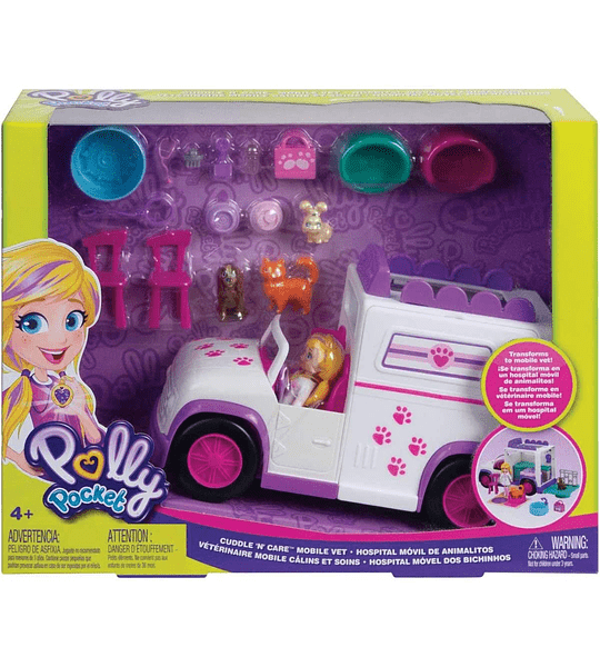 Hospital Móvil De Animalitos Polly Pocket