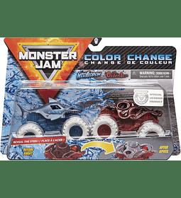 Megalodon Vs Octon8er MonsterJam Escala 1:64 Cambio de Color