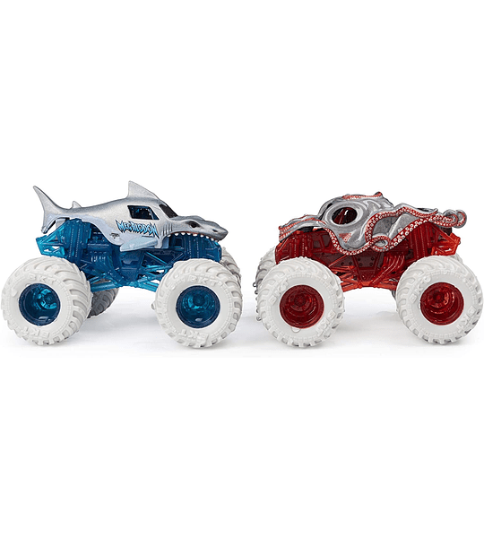 Megalodon Vs Octon8er MonsterJam Escala 1:64 Cambio de Color