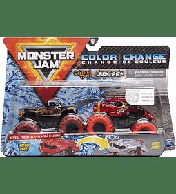 Maldición del capitán y Crushstation Monster Jam 2020 - Escala de cambio de color 1:64