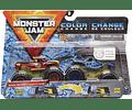 Radical Rescue y Blue Thunder Monster Jam 2020 - Escala de cambio de color 1:64 paquete de 2
