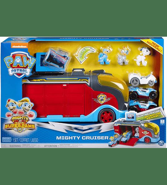 Pups Super Paws, Mighty Cruiser con 3 vehículos y sonidos Paw Patrol