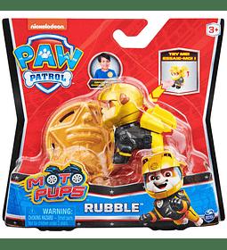 Rubble figura más insignia Moto Pups Paw Patrol