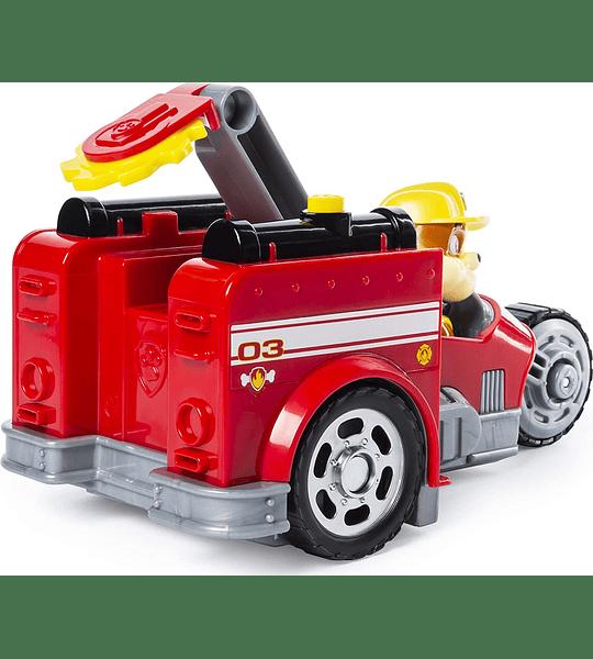 Marshall y Rubble Vehículo de Split-SSecond 2 vehículo en 1, Paw Patrol