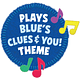 Blue's Clues & You! Las Pistas de Blue y tu, Dance Along Blue Felush Multicolor