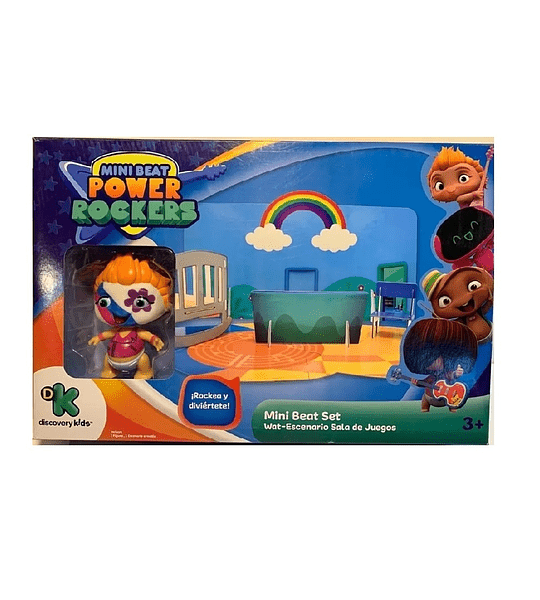 Wat Mini Beat Power Rockers Con Escenario sala de Juego 3D