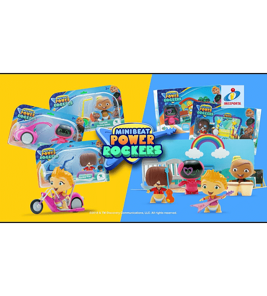Myo Wat Mini Beat Power Rockers Con Escenario Guarderia 3D