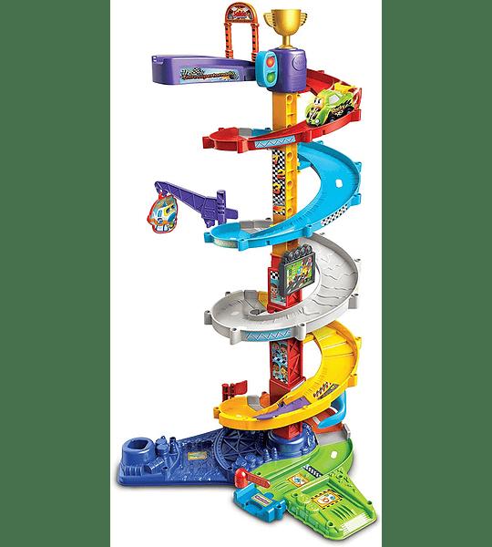 Torre Supertornado TutTut Bólidos con vehículo de Rocky VTech