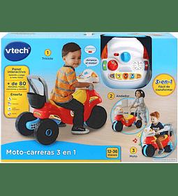 Moto de carreras 3 en 1 VTech